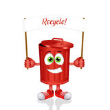 Funny garbage bin for recycling Stock Photography