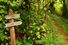 Funny Garden Pathway Sign Pointing Down a Path Stock Photography