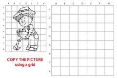 Funny gardener game. Royalty Free Stock Photos