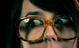 Funny geek glasses Royalty Free Stock Photo