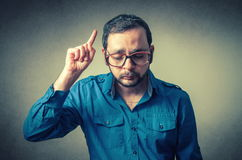 Funny geek with glasses Stock Images