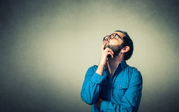 Funny geek with glasses Royalty Free Stock Photography