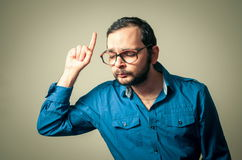 Funny geek with glasses Stock Photos