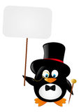 Funny gentleman penguin Stock Image