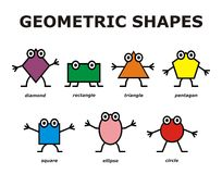 Funny geometric shapes Royalty Free Stock Photography
