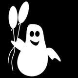 Funny Ghost Halloween balloons Stock Photo