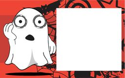 Funny Ghost halloween cartoon expressions frame background Stock Photography