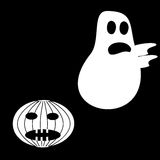 Funny Ghost Halloween scary pumpkin fright Royalty Free Stock Photo