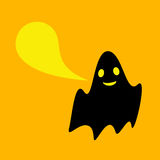 Funny ghost with speech bubble Royalty Free Stock Images