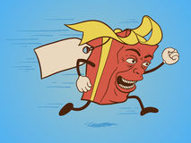 funny gift box cartoon character Royalty Free Stock Image