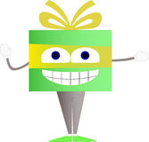 Funny gift character Royalty Free Stock Photos