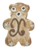 Funny Gingerbread bear Royalty Free Stock Photos