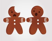 Funny gingerbread men Stock Images