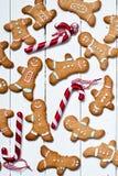 Funny gingerbread men Stock Image