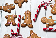 Funny gingerbread men Royalty Free Stock Photography
