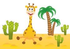 Funny giraffe in Africa. Funny smiling giraffe in Africa Royalty Free Stock Photos