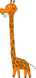 Funny giraffe - vector illustration Royalty Free Stock Photos
