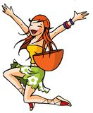 Funny girl 20 Royalty Free Stock Image
