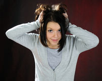Funny girl . Royalty Free Stock Photography