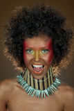 Funny girl with afro hair Stock Image