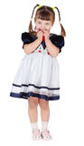Funny girl in beautiful dress Stock Photo