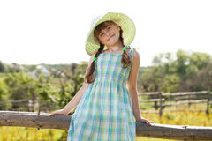 Funny girl in a beautiful dress Royalty Free Stock Images