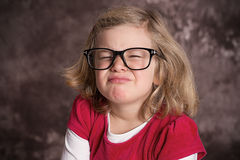 Funny girl with big glasses Stock Photography