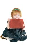 Funny girl with book Stock Photo