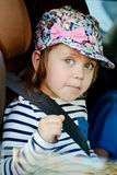 Funny girl in car Royalty Free Stock Photos