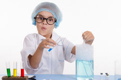 Funny Girl chemist Royalty Free Stock Photography