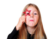 Funny girl Christmas star Royalty Free Stock Image
