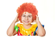 Funny girl clown Stock Photography