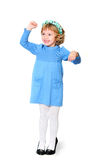 Funny girl with fist Royalty Free Stock Images
