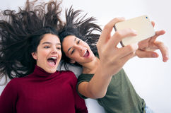 Funny Girl Friends Royalty Free Stock Image