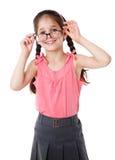 Funny girl in glasses Royalty Free Stock Image