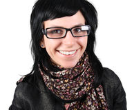 Funny Girl In Glasses Royalty Free Stock Photos
