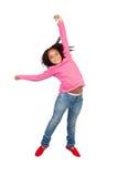 Funny girl jumping Royalty Free Stock Photos