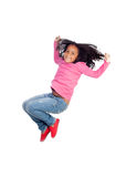 Funny girl jumping Royalty Free Stock Images
