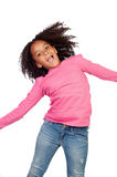 Funny girl jumping Royalty Free Stock Image
