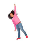 Funny girl jumping Stock Photos