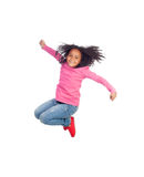 Funny girl jumping Royalty Free Stock Photo