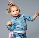 Funny girl Stock Photography