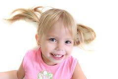 Funny girl portrait Stock Photos