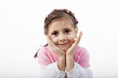 Funny girl portrait Royalty Free Stock Image