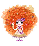 Funny girl with red hair Royalty Free Stock Photos