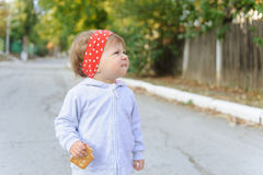 Funny Girl in Red Headband Stock Photography