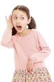 Funny girl schoolgirl stock image