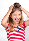 Funny girl  screaming Stock Images