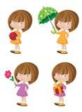 Funny girl set Stock Image