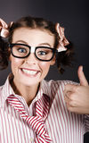 Funny Girl Showing Thumbs Up For All Is Good Stock Image